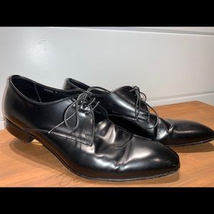 Prada men Derby dress shoe leather size 7